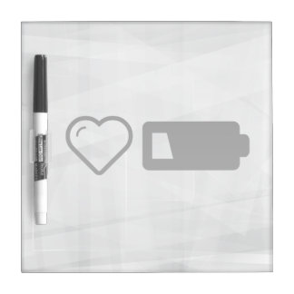 Cool Low Battery Dry-Erase Board