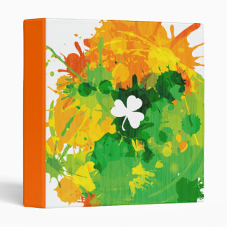 Cool Lucky Ink Clover 3 Ring Binder