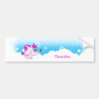 Cool Lucky Pinkie Thank You Bumper Sticker Car Bumper Sticker