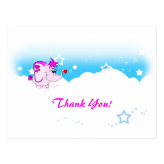 Cool Lucky Pinkie Thank You Postcard