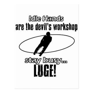 Cool lugging designs postcard