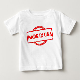 Cool made in usa stamp red effects baby T-Shirt
