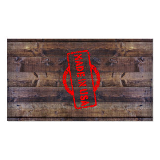 Cool made in usa wood background Double-Sided standard business cards (Pack of 100)