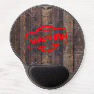 Cool made in usa wood background effects gel mouse pad
