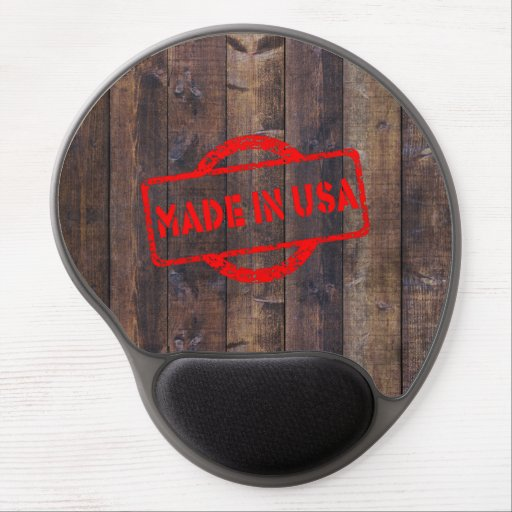 Cool made in usa wood background effects gel mouse pads