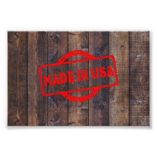 Cool made in usa wood background effects photo print