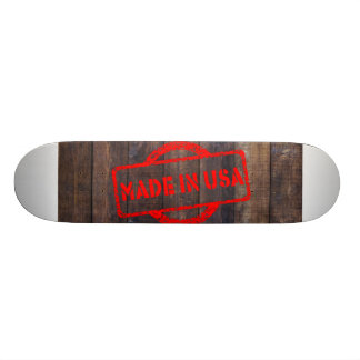 Cool made in usa wood background skateboard
