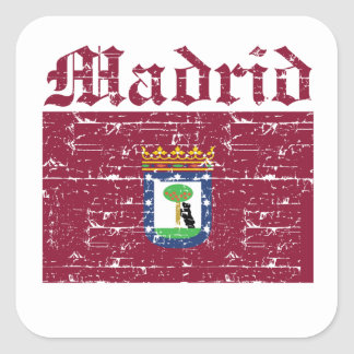 Cool madrid city flag designs stickers