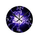 Cool Magic Lightning ball Round Clock