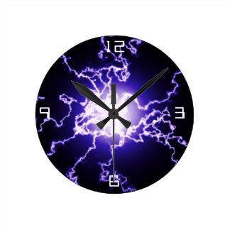 Lightning Wall Clocks Zazzle