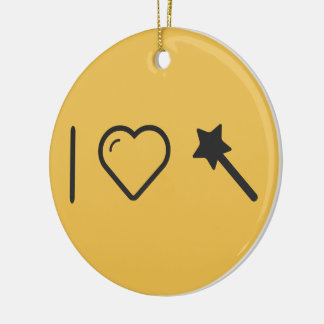 Cool Magical Moments Double-Sided Ceramic Round Christmas Ornament