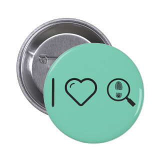 Cool Magnifying Footprints 2 Inch Round Button