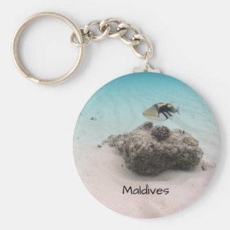 Cool Maldives Underwater Coral Fish Souvenir Keychain