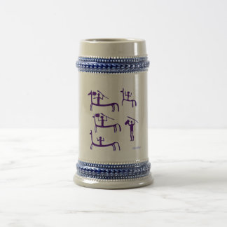Cool Man Cave Bar Ideas Prehistoric Rock Art Beer Stein