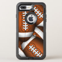 Cool Manly Footballs American Football Rugged OtterBox Defender iPhone 7 Plus Case