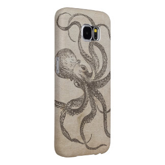 Cool Manly Vintage Octopus Creature Sea Animals Samsung Galaxy S6 Cases