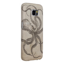 Cool Manly Vintage Octopus Creature Sea Animals Samsung Galaxy S6 Case