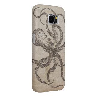 Cool Manly Vintage Octopus Creature Sea Animals Samsung Galaxy S6 Case