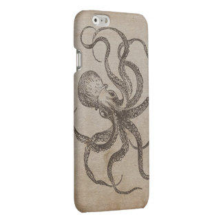 Cool Manly Vintage Octopus Sea Animals Old Paper Matte iPhone 6 Case