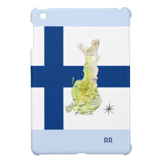 Cool Map of Finland and Flag iPad Mini Case