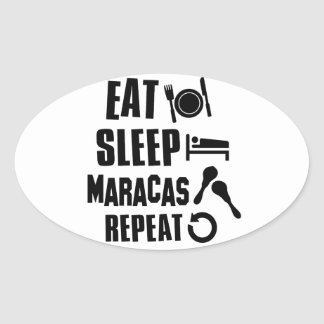 Cool Maracas designs Oval Sticker