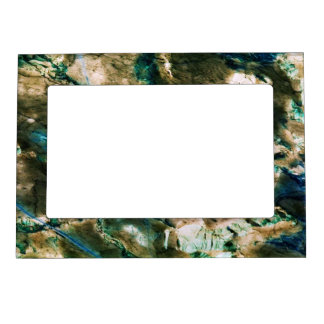 Cool Marble Texture blue brown white Magnetic Photo Frame