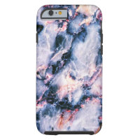 Cool Marble Texture blue pink white iPhone 6 Case