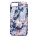 Cool Marble Texture blue pink white iPhone 7 Case