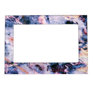 Cool Marble Texture blue pink white Magnetic Frame