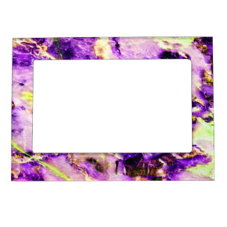 Cool Marble Texture purple pink white Magnetic Picture Frame
