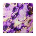 Cool Marble Texture purple pink white Small Square Tile