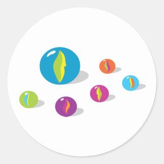 Cool Marbles Round Sticker