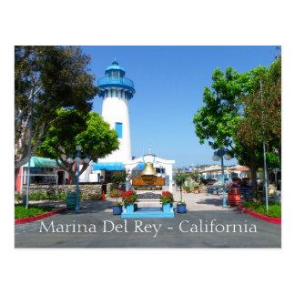 Cool Marina Del Rey Postcard! Postcard