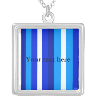 Cool marine blue white and light blue stripes pendants