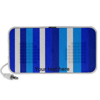 Cool marine blue white and light blue stripes travelling speakers