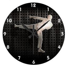 Cool Martial Arts Large Clock