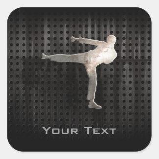 Cool Martial Arts Square Sticker