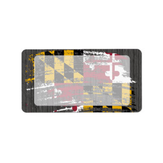 Cool Marylander flag design Custom Address Label