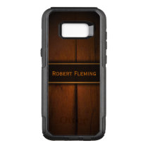 Cool Masculine Faux Baltic Pine Wood Photo Print OtterBox Commuter Samsung Galaxy S8  Case