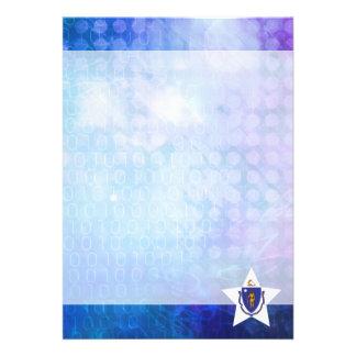 "Cool Massachusetts Flag Star 5"" X 7"" Invitation Card"