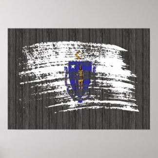 Cool Massachusettsan flag design Poster
