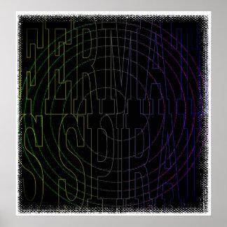 Cool Math geek Text Art: Fermat's Spiral Poster