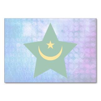 Cool Mauritania Flag Star Table Cards