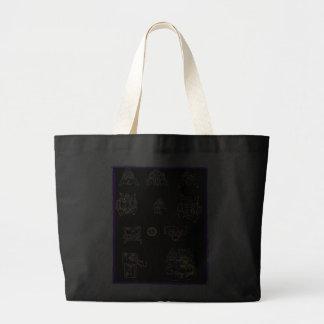 Cool Mayan Design Jumbo Tote Bag