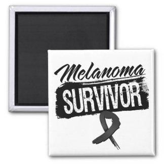 Cool Melanoma Survivor 2 Inch Square Magnet