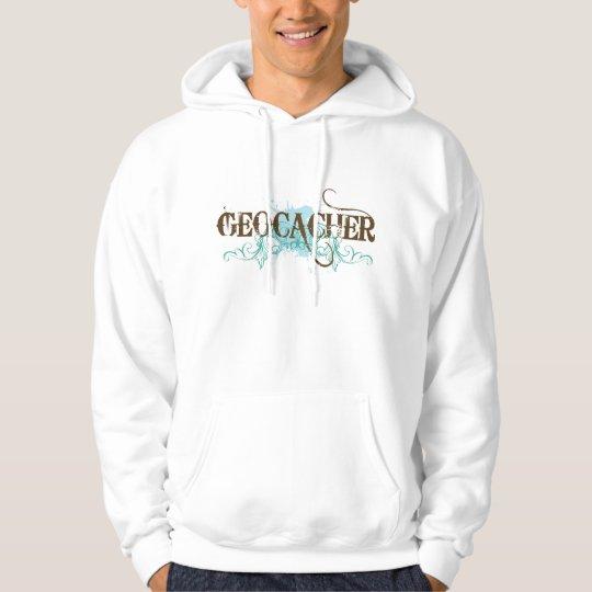Cool Mens Geocacher Grunge Hoodie Gift