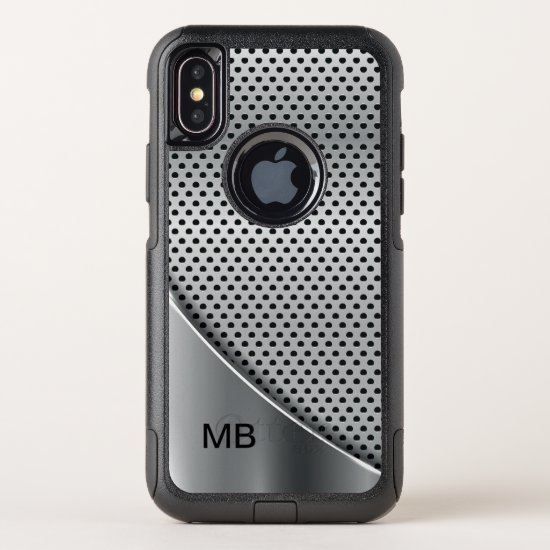 Cool Mens Monogram Design OtterBox Commuter iPhone X Case