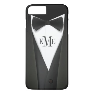 Cool Mens Tuxedo Suit Pattern - Manly Monogram iPhone 7 Plus Case