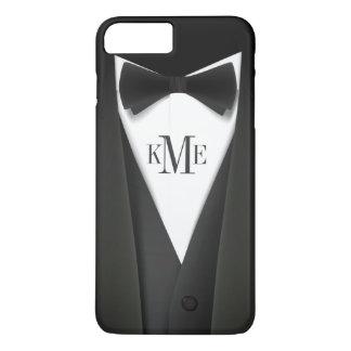 Cool Mens Tuxedo Suit Pattern - Manly Monogram iPhone 8 Plus/7 Plus Case