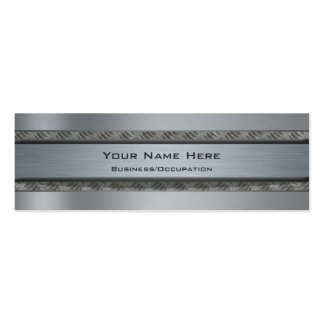 Cool Metal and Diamond Plate Look Business Cards